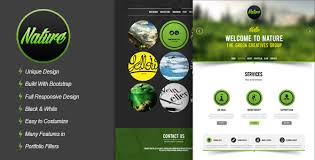 nature responsive html5 onepage template download nature creative
