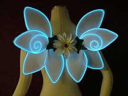light up fairy wings el wire lightup fairy wings choose your color made by artchicinc