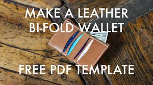 tutorial youtube pdf make a leather bi fold wallet free pdf template build along