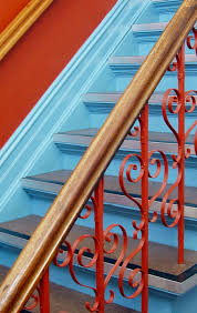 Handrail For Two Steps 35 Wrought Iron Stair Railing Ideas Photo Gallery
