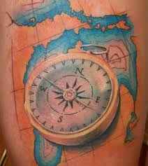 3d Compass Tattoos 3d Map And Compass Tattoos In 2017 Photo Pictures Images