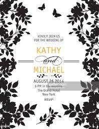 black and white wedding invitations black and white wedding invitation template vector