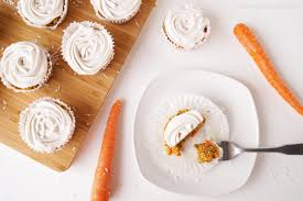 healthy grocery carrot cake cupcakes