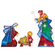 Nativity Sets Outdoor Plastic Lighted Outdoor Nativity Scene Sets