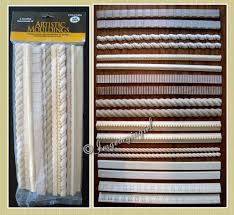 Trim Styles Artistic Woodworking Wood Moulding Trim Lot Of 18 Pieces 9 Styles