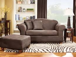 Loveseat With Ottoman Furniture Elegant Brown Loveseat With Comfortable Surefit
