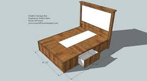 Platform Bed Frame Plans Queen by Diy Queen Size Storage Bed Includes Cutting Plans U0026 Directions