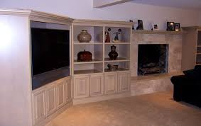 Tv In Mirror Bathroom by Bathroom Pretty Fireplace Joins Corner Built Console Picture