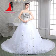 silver wedding dresses aliexpress buy luxurious white gown wedding dresses