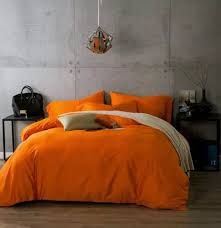Orange Bed Sets Luxury Cotton Bedding Sets Orange Bed Sheets Linen
