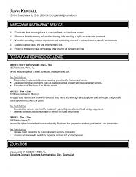 Good Resume Examples Objective by Restaurant Server Resume Star Samples Objective Examples