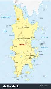 Phuket Map Phuket Road Map Stock Vector 151805819 Shutterstock