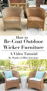 how to refresh aged or worn wicker furniture by recoating with a
