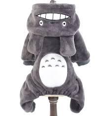 halloween fleece small dog cat clothes fleece totoro jumpsuit pajamas coat