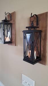 wall mounted lantern lights set of 2 medium rustic wall mounted lantern sconces wooden walls