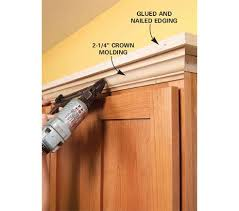 how to add crown molding to kitchen cabinets stunning amazing how to install crown molding on kitchen cabinets