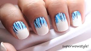 like a waterfall easy nail designs u0026 easy short nails tutorial