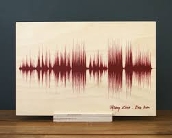 wood anniversary gifts 5th anniversary wood gifts sound wave custom wedding song