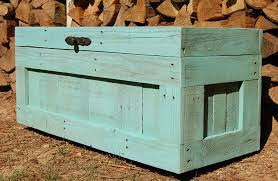 turquoise hope chest from reclaim wood coffee table end of