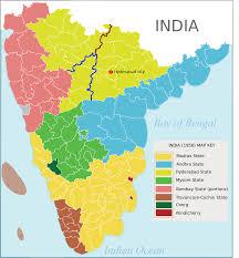 South States Map by Hyderabad State 1948 U201356 Wikipedia