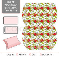 favor gift box die cut box template with dahlia pattern great
