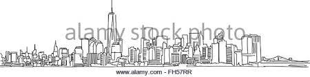 new york city skyline stock vector images alamy