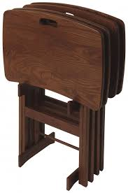 Tv Tray Table Solid Wood Folding Tv Tray Tables Portable Work Desks
