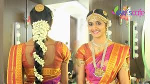bridal hairstyle for marriage traditional bridal makeup south indian bride youtube