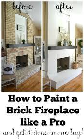 best fireplace update ideas pinterest brick how paint brick fireplace like pro