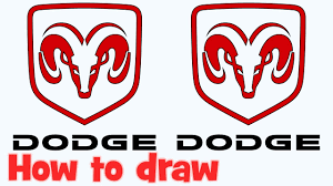 logo dodge challenger how to draw dodge logo step by step for beginners youtube