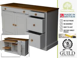 Office Workstation Desk by Solid Pine Painted U0026 Waxed Sideboard Hidden Home Office Desk