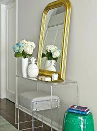 Quatrefoil Console Table Gold Quatrefoil Mirrors Contemporary Entrance Foyer Entrance Foyer