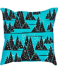 Nursery Decorative Pillows Amazing Deal Blue Abstract Triangles And Dots Nursery Decorative