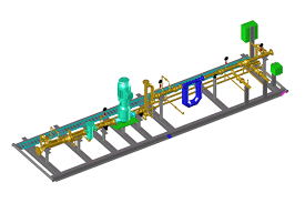 3d rendering project for oil u0026 gas piping skid autocad or