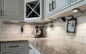 under cabinet lighting with light cabinets and lighter counters