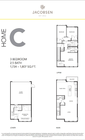 jacobsen living floorplans u2013 west coast modern townhomes at 2687
