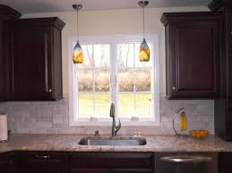 small kitchen decorating using small cone blue brown glass mini