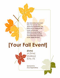 fall event flyer with leaves office templates