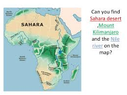 africa map deserts africa for