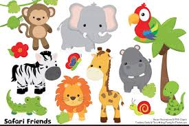 high res jungle animal clipart clipground