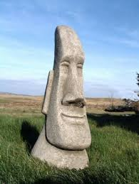 large easter island garden ornament