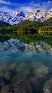 mountain landscape reflection mountains lake rocks iphone 6
