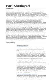 Mysql Dba Resume Sample by Dba Resumes Resume Cv Cover Letter