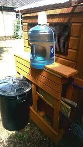 waterer with water cooler bottle backyard chickens