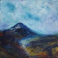 Mountain Landscape Paintings by Balgy Falls Scottish Mountain Landscape Painting Of A Waterfall In