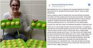 Tennis Balls For Chairs Teacher Creates Diy