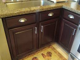 staining kitchen cabinets before and after kitchen cabinets cabinet refinishing by linda