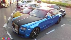 rolls royce blue interior chrome blue frozen black rolls royce ghost youtube