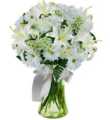 white lilly white sympathy bouquet avas flowers