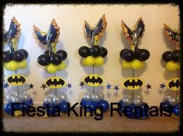 batman centerpieces vintage party decoration done by king rentals in bell ca